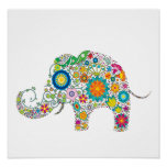 Cute Elephant Floral Pattern - Customisable!
