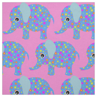 Elephant nursery fabric for sewing quilting crafts for Nursery fabric uk