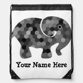 Cute Elephant Geometric Pattern Backpack Kids