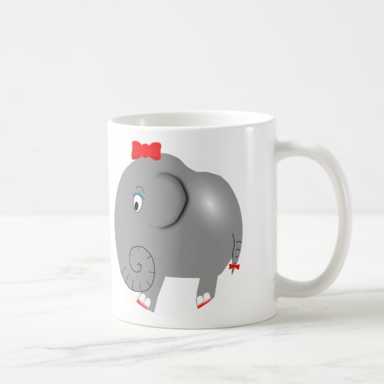 Cute Elephant Girly Coffee Mug