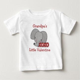 Cute Elephant Grandpa's Valentine Baby T-Shirt