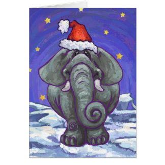Cute Elephant Holiday Card