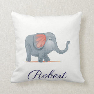 Cute Elephant  Illustration Personalized your name Cushion