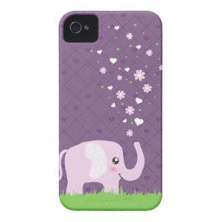 Cute elephant in girly pink & purple blackberry case