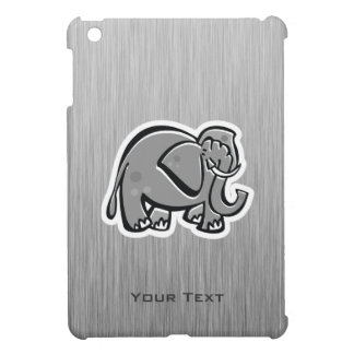 Cute Elephant; Metal-look iPad Mini Covers