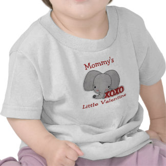Cute Elephant Mommy s Valentine T-shirts