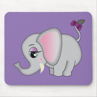 Cute Elephant Mouse Mat
