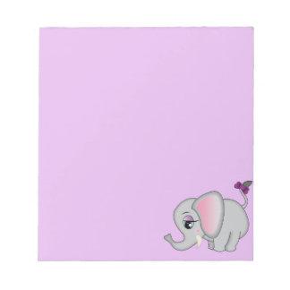 Cute Elephant Notepad