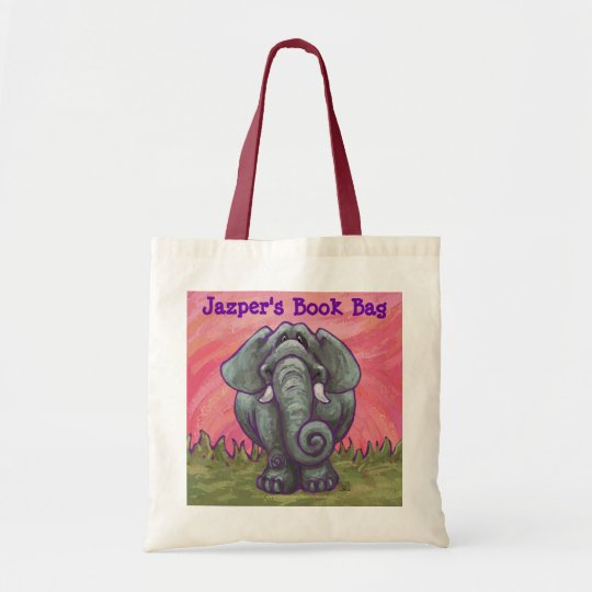 Cute Elephant Personalised Book Bag
