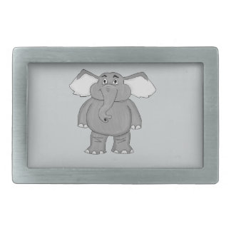 Cute elephant rectangular belt buckle