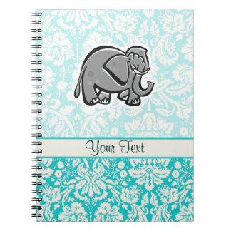 Cute Elephant; teal Notebooks