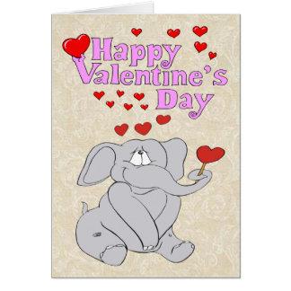 Cute Elephant Valentine Card