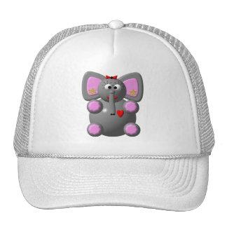 Cute Elephant with Earrings Cap