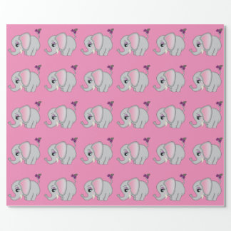 Cute Elephant Wrapping Paper