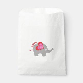 Cute Elephant XoXo, favor bag Favour Bags