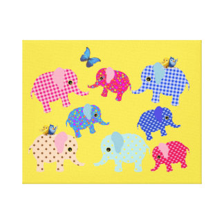 CUTE ELEPHANTS KIDS CANVAS ,