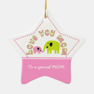 Cute Elephants Mother Child Mother's Day gift Christmas Ornament