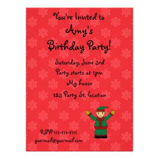 Cute elf personalized invite