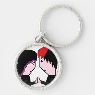 Cute Emo Couple Keychain