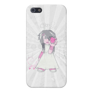 cute emo girl holding heart vector art iPhone 5 cases