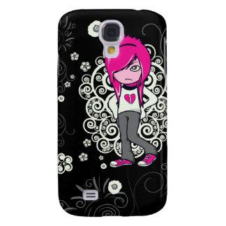 cute emo girl swirls vector illustration galaxy s4 case