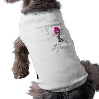 cute emo girl swirls vector illustration sleeveless dog shirt