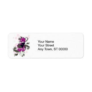 cute emo kid sitting on a flower return address label