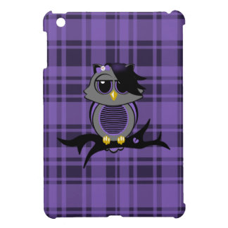 Cute Emo Owl and Plaid iPad Mini Case