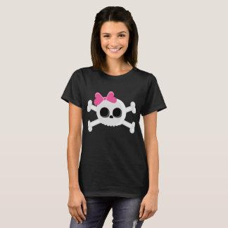 Cute Emo Skull with Ribbon T-Shirt