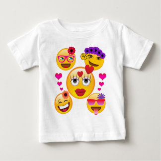 Cute Emoji Faces for Kids and Adults Baby T-Shirt