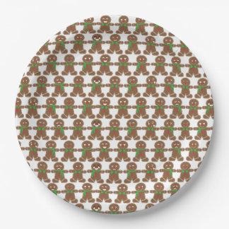 Cute Emoji Gingerbread Man Paper Plate