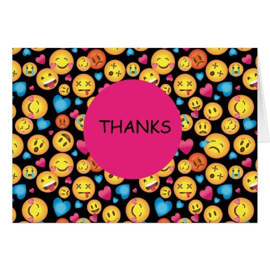 Cute Emoji Print All Occasion Thank You Note