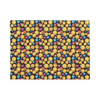 Cute Emoji Print Floor Mat