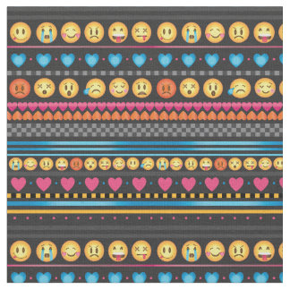 Cute Emoji Stripe Fabric
