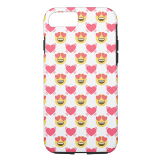 Cute Emoji Unicorn and Hearts Pattern iPhone 8/7 Case