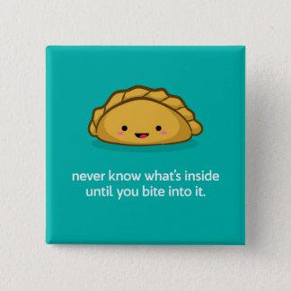 Cute Empanada Character Square Pin