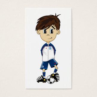 Cute England Soccer Boy Bookmark