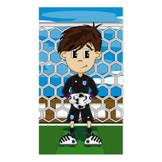 Cute England Soccer Goalkeeper Bookmark Pack Of Standard Business Cards