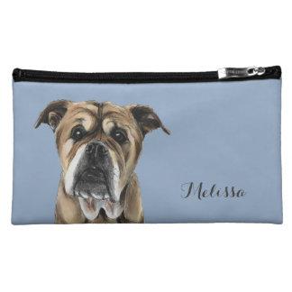 Cute English Bulldog Drawing Cosmetic Bag