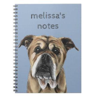 Cute English Bulldog Drawing Notebooks