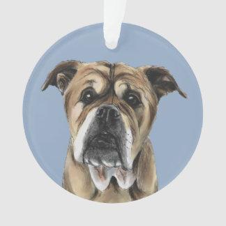 Cute English Bulldog Drawing Ornament