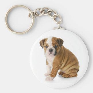 Cute English Bulldog Puppy Dog Keychain