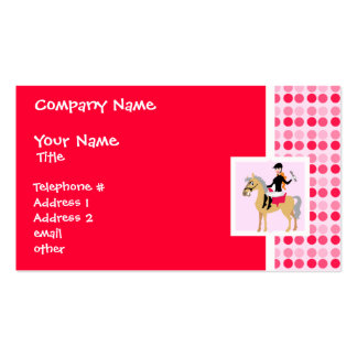 Cute Equestrian Girl. Double-Sided Standard Business Cards (Pack Of 100)