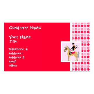 Cute Equestrian Girl. Business Card Templates