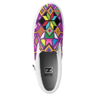 Cute ethnic and ethic pattern Mochila art Slip On Shoes