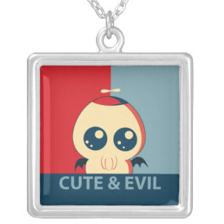 Cute & Evil '12 Square Pendant Necklace