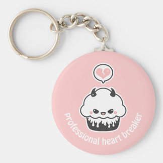 Cute Evil Cupcake Key Ring