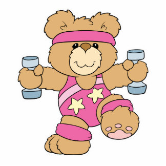 Cute Exercise Fitness bear Acrylic Cut Outs
