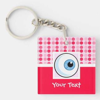 Cute Eyeball Double-Sided Square Acrylic Keychain