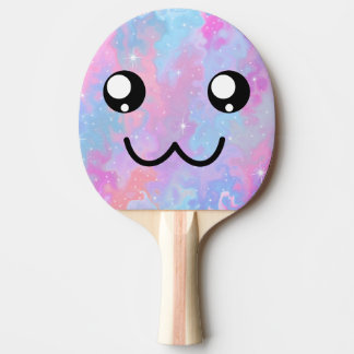Cute Face Kawaii Pastel Magical Colorfull Ping Pong Paddle